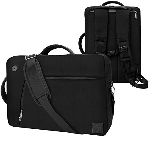 VanGoddy Convertible Black Laptop Bag 17.3 inch Fit for MSI Raider