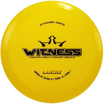 Dynamic Discs Lucid Witness Fairway Driver Golf Disc [Colors may vary] - 170-172g