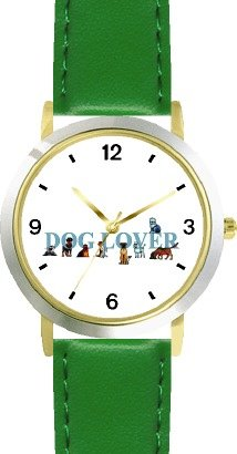 dog-lover-collage-dog-cat-cartoon-or-comic-jp-animal-watchbuddy-deluxe-two-tone-theme-watch-arabic-n