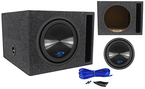 1500 Watt Car Subwoofer + Vented Sub Enclosure Box (12' Car Sub Subwoofer)