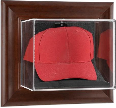 Brown Framed Wall Mounted Cap Case -