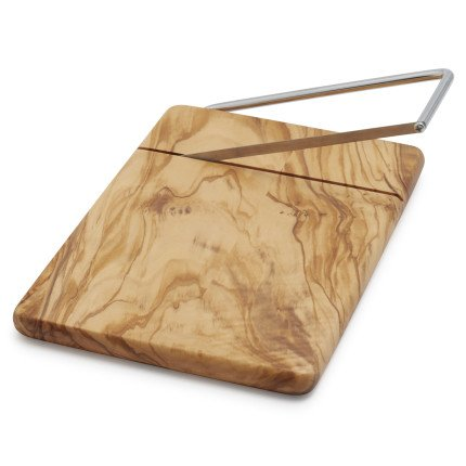 Sur La Table Olivewood Cheese Board and Slicer CS33025L