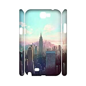 3D Samsung Galaxy Note 2 Cases New York, New York, Dustin, {White}
