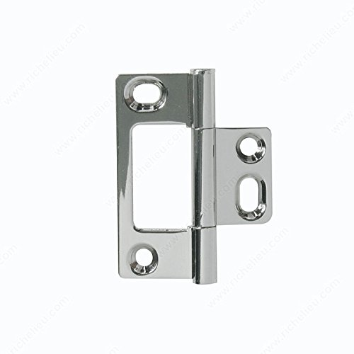 Classic Brass Bifold Hinge - 5203, Finish Polished Nickel, Finish Number 180 (Hinge Mortise Polished Non Nickel)