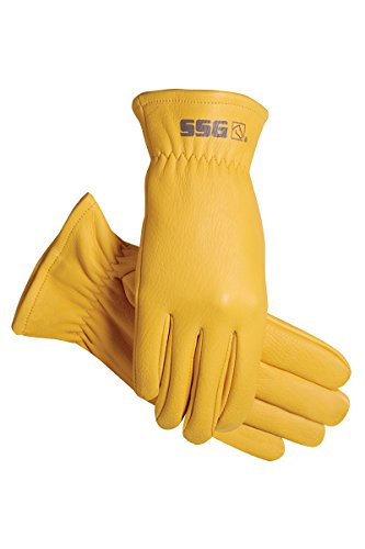 SSG DEERSKIN RANCHER GLOVES SOFT COMFORTABLE DURABLE ALL SIZES (9) (Deerskin Show Glove)