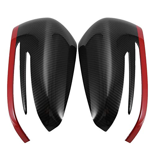 Hlyjoon 2Pcs Car Rearview Mirror Protective Cover Left and Right Black Carbon Fiber Style Auto Exterior Side Rear View Mirror Shell Protector Cap Trim for 1//2//3//4//X//M Series 2014 2015 2016 2017 2018
