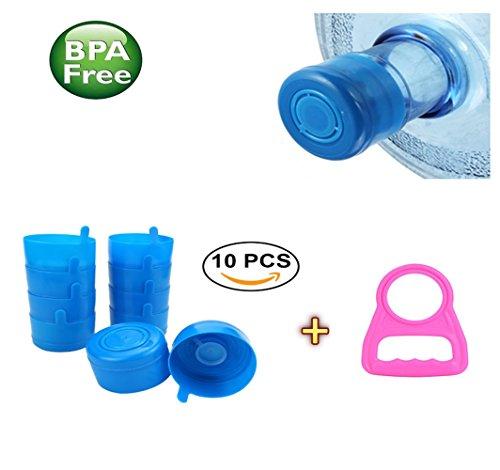 - lexvss 5 Gallon Caps, Replacement Non Spill Cap 5 Gallon Snap Caps Anti Splash Bottle Caps for 55mm 5 Gallon Water Jugs with Water Bottle Handle【10 - PACK】