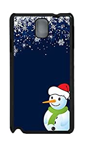 Samsung Galaxy Note 3 N9000 Cases & Covers - Happiness Snowman Custom PC Soft Case Cover Protector for Samsung Galaxy Note 3 N9000 - Black