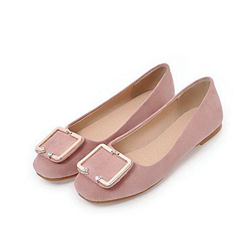 punta Zapatos charol para bajo con mujer Rosa cerrada VogueZone009 alto con tacón de tacón de rpAxrz