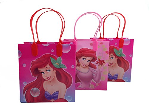 Disney Little Mermaid Party Favor Goodie Small Gift Bags, pack of 12 -