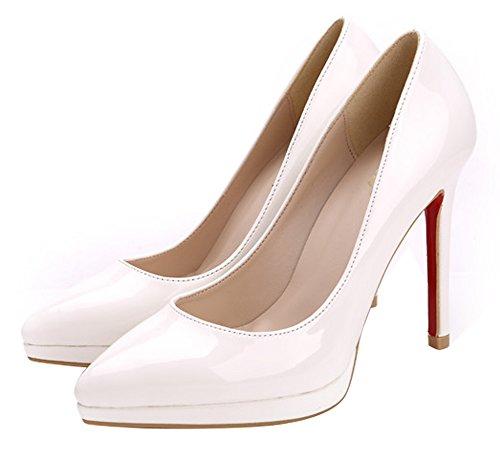 Guoar - Cerrado Mujer - Weiß Lackleder