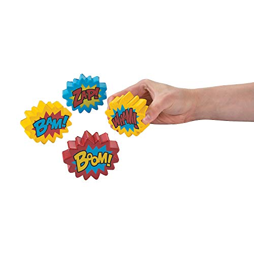 Fun Express - Super Hero Stress Toy - Toys - Balls - Relaxables - 12 Pieces -