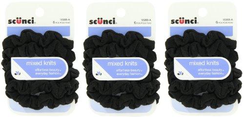 (Scunci Effortless Beauty Mini Slinky Black Twisters, 18-Count)