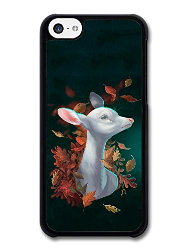 Cute Deer Animal in Autumn Leaves Wild Nature Design case for iPhone 5C
