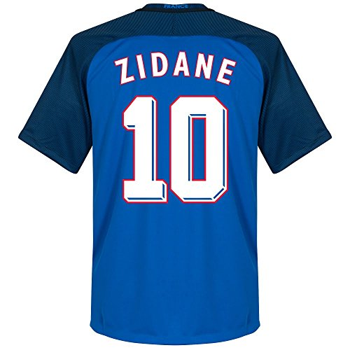 France Home Zidane Jersey 2016 / 2017 (1998 World Cup Style Printing) - M