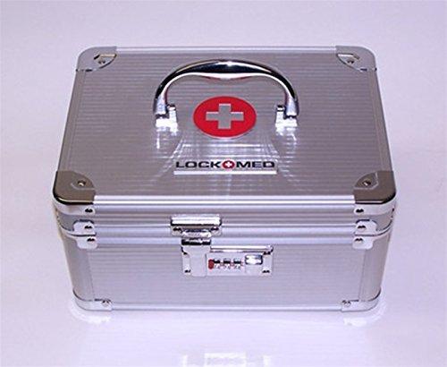 LockMed Medium Medication / Pill Lockbox w/ Combination Lock Authorized Dealer Free Shipping