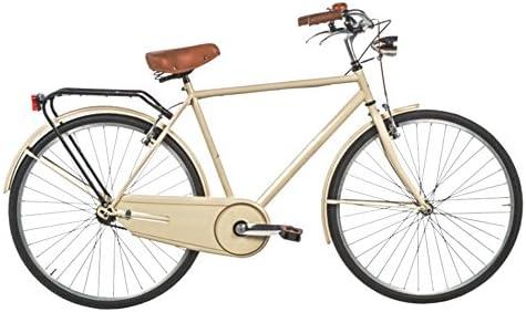 Bicicleta 28 Holanda de lujo, fabricada en Italia., Hombre, crema ...