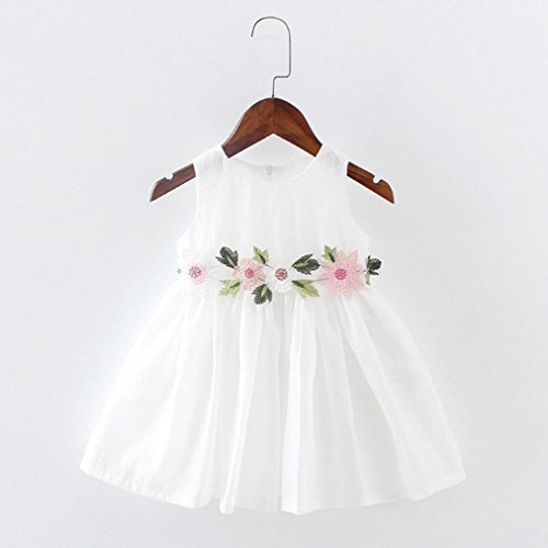 Tutu De Col Knee Impression Above Manches Charmant Élégant Adeshop Floral Blanc Bal Pure Couleur Filles Sans Robes Princesse Grenadine Robe Rond xIZHHfEw