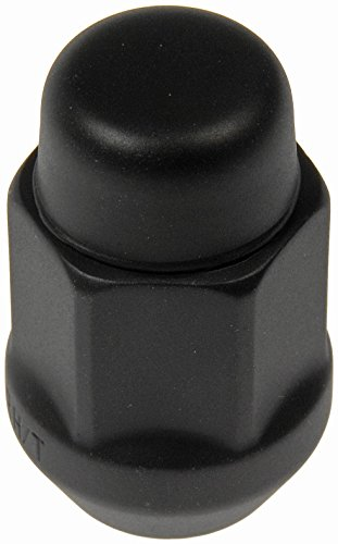 Fleetwood Cadillac A/c (Dorman 711-235C Pack of 16 Matte Black Wheel Nuts and 4 Lock Nuts with Key)