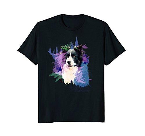 (Border Collie T-Shirt Splash Art Dog Owner Gift Tee Shirt)