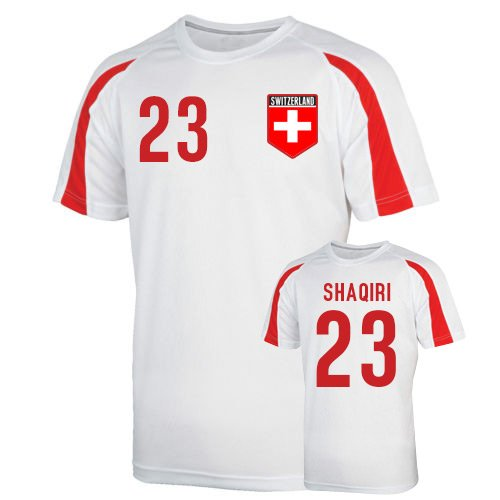 Switzerland Sports Training Jersey (shaqiri 23) Kids B01N6GA3UD MB (7-8 Years)|White White MB (7-8 Years)