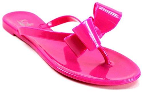 kali-footwear-women-ribbon-bow-flat-jelly-sandal-8-hot-pink