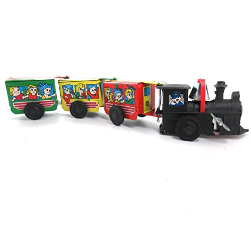 - Xelue FF Novalty Vintage Classic Decoration Wind Up Clockwork Steam Train Tin Toy