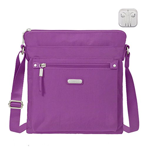 complimentary Crossbody Go RFID Sorbet Wristlet Travel with Earphones Baggallini Bundle Bag 054Hxn0q