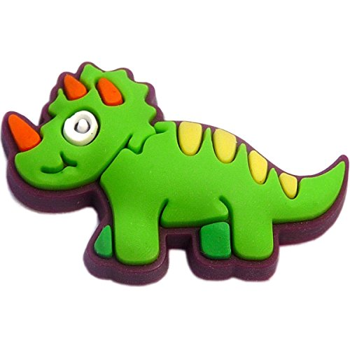Green Dinosaur Rubber Charm for Wristbands and -