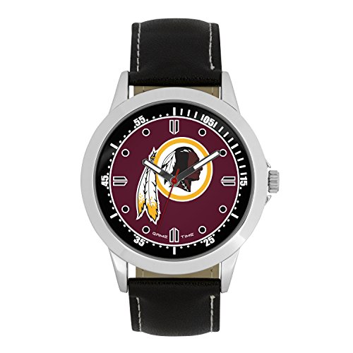 NFL Washington Redskins Mens Player Series Wrist Watch, Silver, One Size ()
