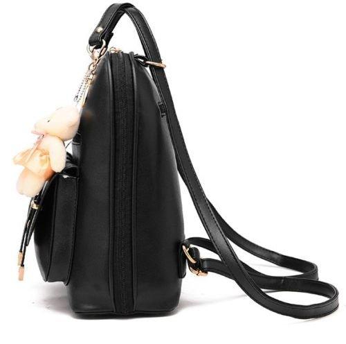 mujeres hombro de de la manera de la de de Rosa de cuero la sintético mochila de la las viaje Mochila del muchacha escuela Bolso wSaFqfR