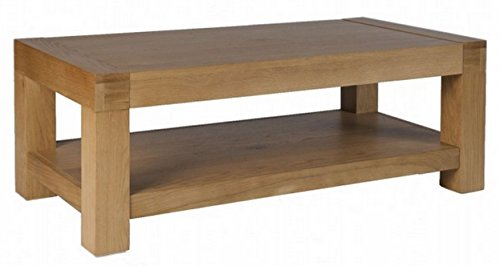OSLO   CHUNKY OAK COFFEE TABLE WITH SHELF *SOLID WOOD*: Amazon.co.uk:  Kitchen U0026 Home