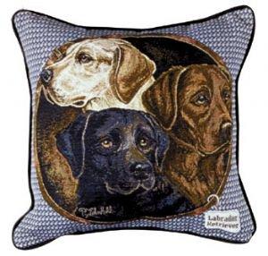Simply Home Labrador Retriever Dogs Decorative Tapestry Toss Pillow USA Made