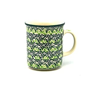 Polish Pottery Mug – Straight Sided – Irish Meadow