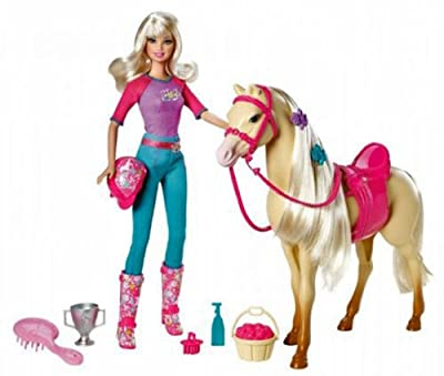 Barbie Doll And Tawny Horse Playset from Mattel
