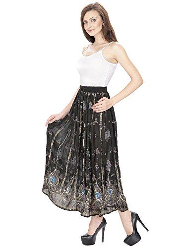 Women Party Hippie Dress Cotton Embroidered designer Skirt Summer Beach Skirt Indian Dress Aakriti Gallery
