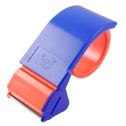 """uxcell Sealing Packaging Parcel Roller 2"""" Width Tape Cutter Dispenser Blue"""