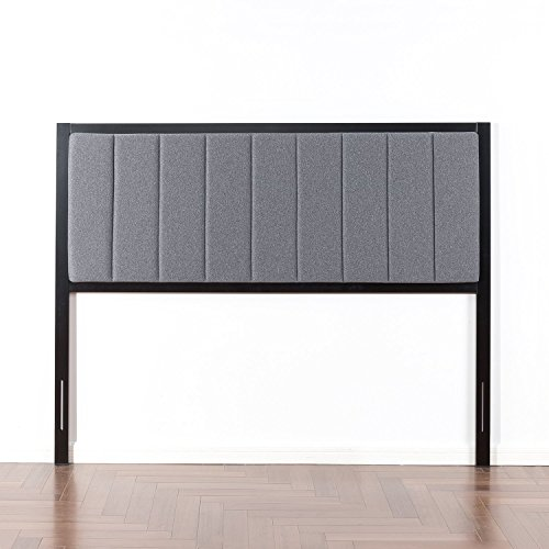 Amazon Com Zinus Anuar Banded Grey Upholstered Metal