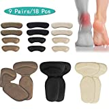 (18pcs) Heel Cushions-Heel Grips/High Heel Pads Inserts,Reusable Heel Liner Protector Best for Loose Shoe,Heel Anti Slips,Blister,Heel Rubbing and Heel Pain Relief Bunion Callus, for Men & Women.