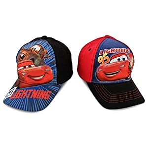 Disney Boys Cars Lightning McQueen Cotton Baseball Cap 2 Pack