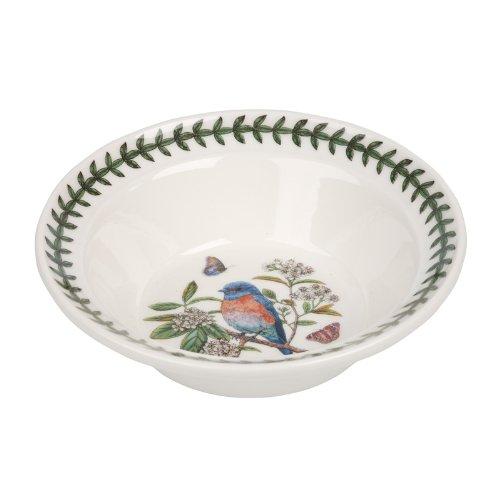 PORTMEIRION BOTANIC GARDEN BIRDS Oatmeal bowl western bluebird