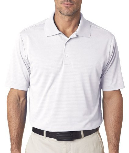 adidas Golf Mens Climalite Textured Short-Sleeve Polo (A161) -White -3XL
