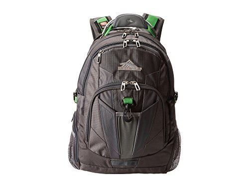 High Sierra XBT TSA Laptop Backpack, Charcoal/Silver/Kelly