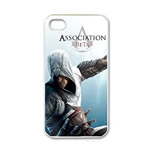 Assassins Creed Image On The iPhone 4 4s White Cell Phone Case AMW895828