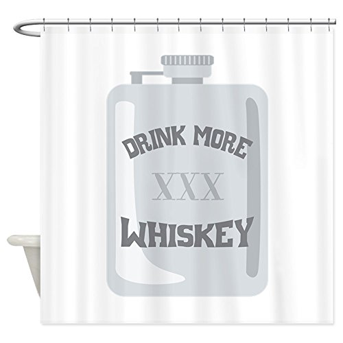 64044a4af1e3 CafePress - Drink More XXX Whiskey - Decorative Fabric Shower Curtain  (69
