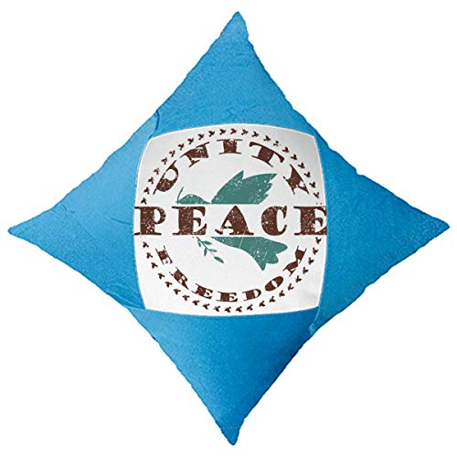 DIYthinker Olive Branch Peace Freedom Symbol Throw Pillow Blue Case Cover Car Bed Decorative