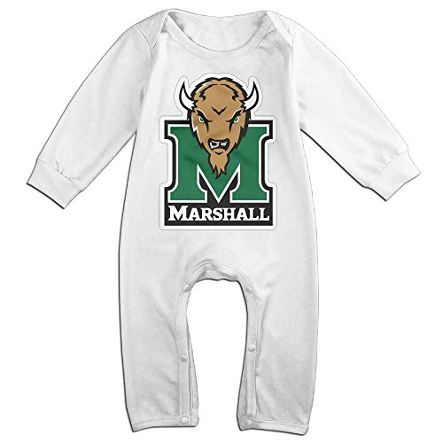 Price comparison product image OOKOO Baby's Marshall University Thundering Herd Bodysuits Outfits White 24 Months