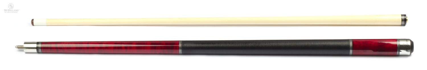 Players C-960 Classic Crimson Birds-Eye Maple with Triple Silver Rings Cue
