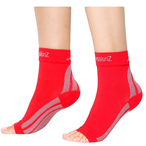 CompressionZ Plantar Fasciitis Socks – Compression Foot Sleeves – Ankle Brace w/Arch Support – Pain Relief for Heel Spurs, Edema, Achilles Tendonitis – Improve Circulation