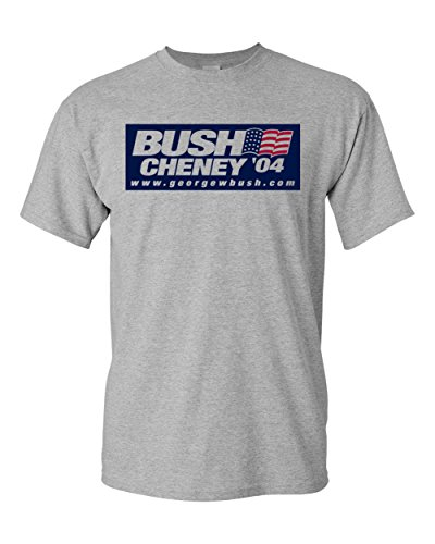 Bush Cheney 04 Republican George W 2004 Sport Grey T-Shirt (Sport Grey, Large)